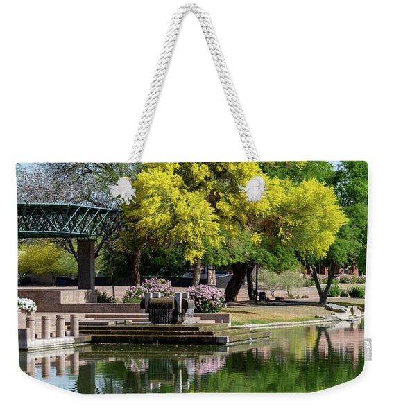 Yellow Reflection Weekender Tote Bag