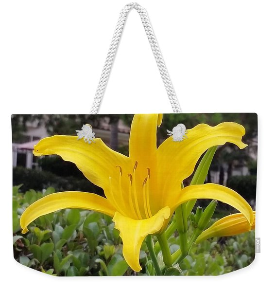 Yellow Renaissance Lily Weekender Tote Bag