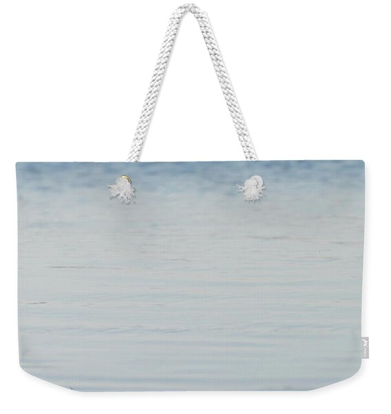 Yellow Roses In The Distance At The Beach Weekender Tote Bag