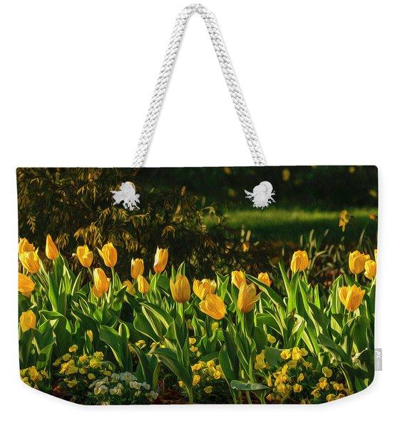 Yellow Spring Fever Weekender Tote Bag