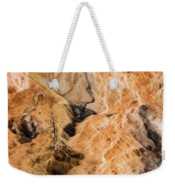 Weekender Tote Bag featuring the photograph Yellow Stone National Park Abstract by Mae Wertz