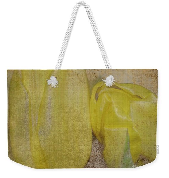 Yellow Strands Weekender Tote Bag