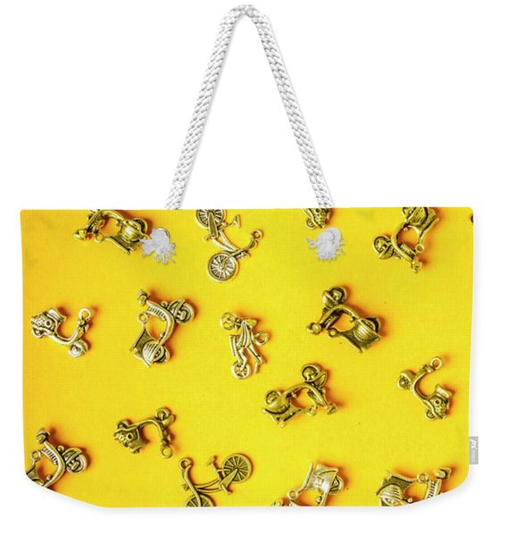 Yellow Summer Transport Weekender Tote Bag