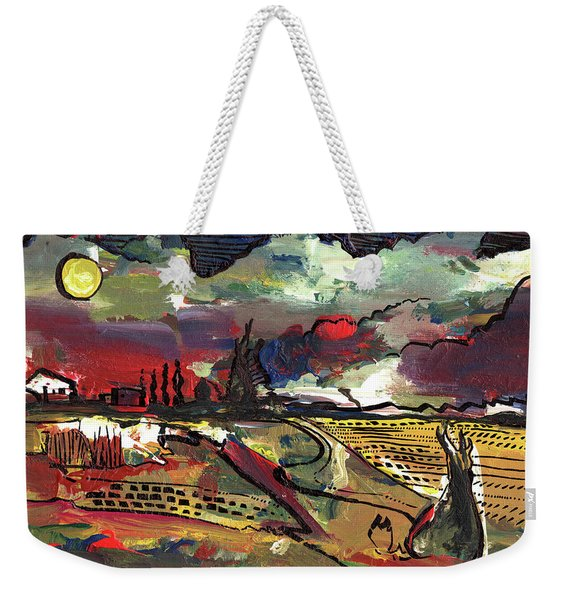 Yellow Sun Weekender Tote Bag