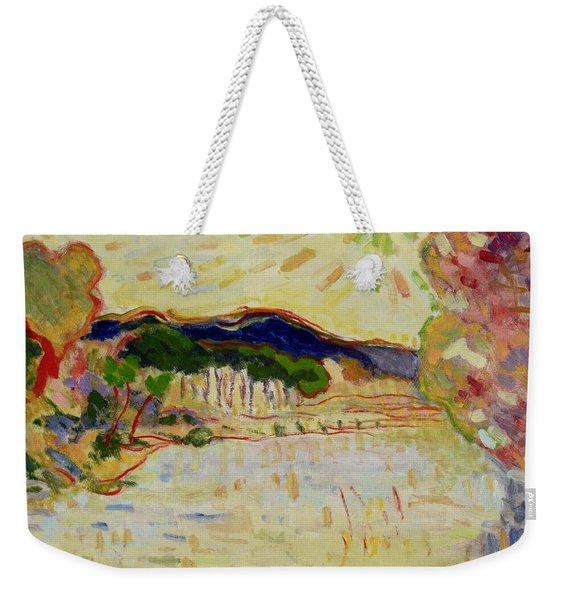 Beynac Et Cazenac , Dordogne , Yellow Sunshine  Weekender Tote Bag