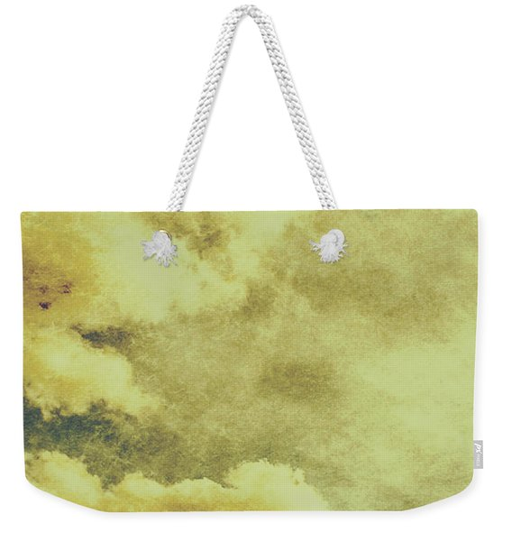 Yellow Toned Textured Grungy Cloudscape Weekender Tote Bag