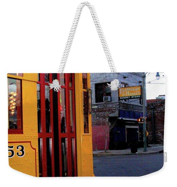 Yellow Trolley At Earnestine And Hazels Weekender Tote Bag