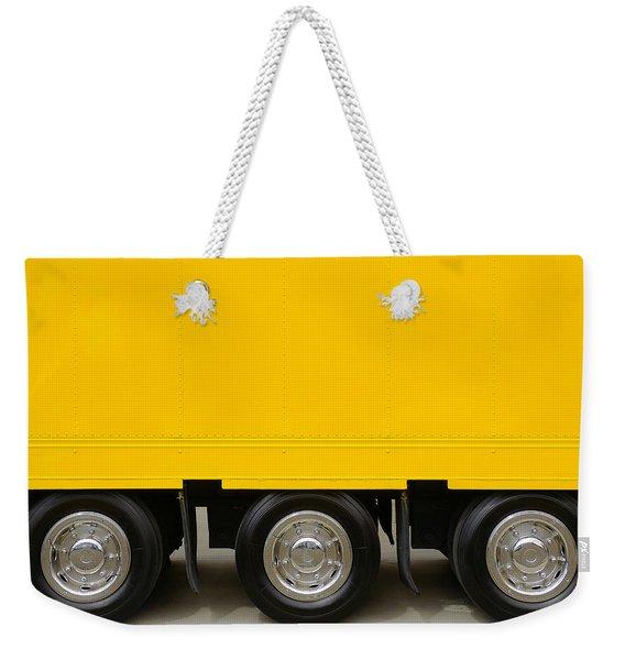 Yellow Truck Weekender Tote Bag