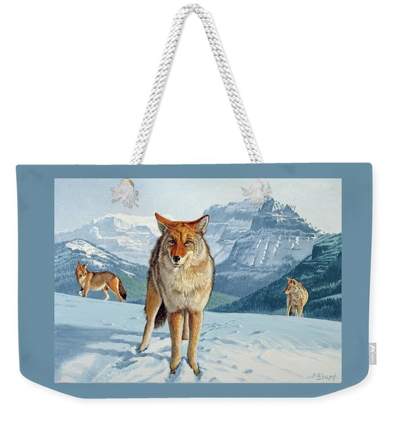 Yellowstone Coyotes Weekender Tote Bag
