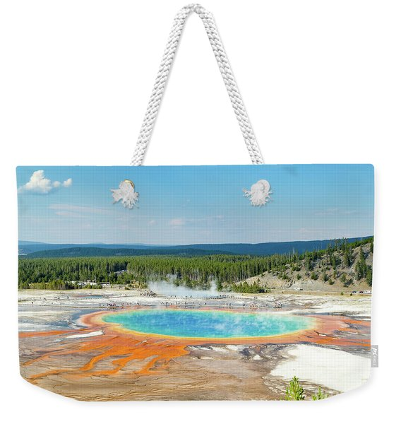 Yellowstone Grand Prismatic Spring  Weekender Tote Bag