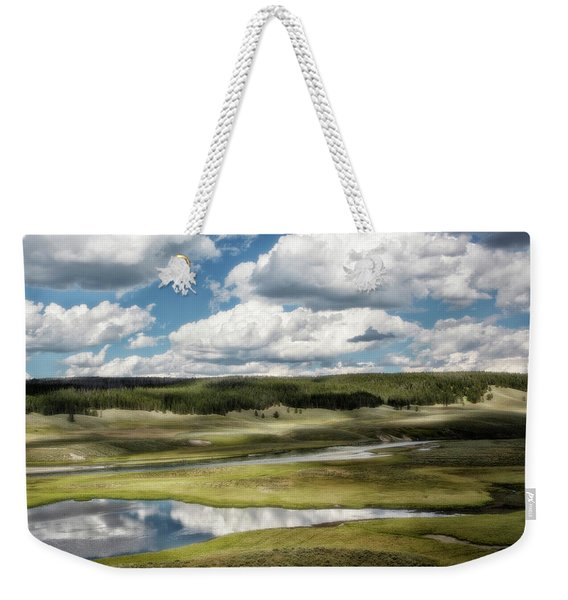 Yellowstone Hayden Valley National Park Wall Decor Weekender Tote Bag