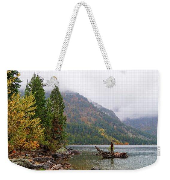 Yellowstone Lake Fall Weekender Tote Bag