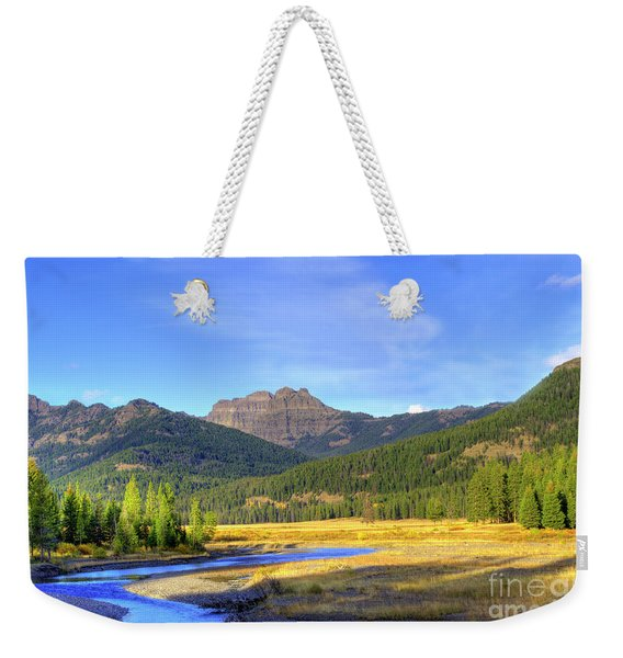 Yellowstone National Park Landscape Weekender Tote Bag