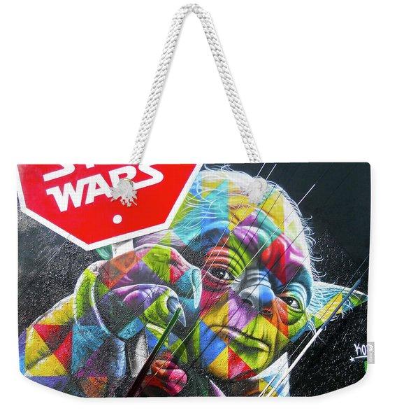Yoda - Stop Wars Weekender Tote Bag