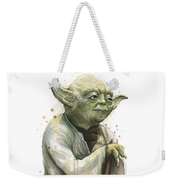 Yoda Watercolor Weekender Tote Bag