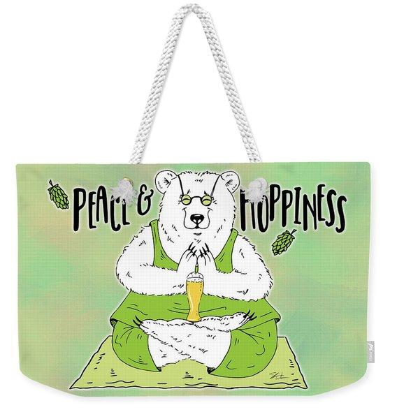 Yoga Beer Bear Weekender Tote Bag