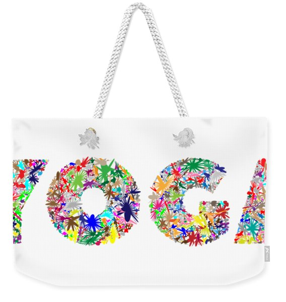 Yoga Word Art Weekender Tote Bag
