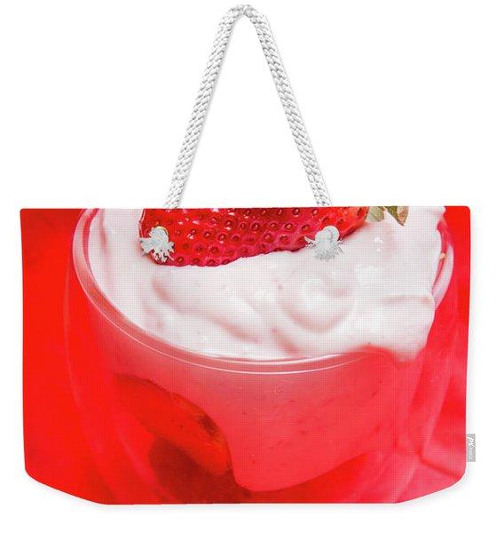 Yoghurt And Berry Dessert Weekender Tote Bag