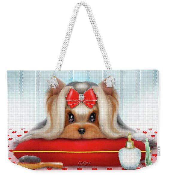 Yorkie Beauty Weekender Tote Bag