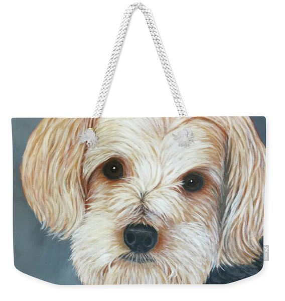 Yorkie Portrait Weekender Tote Bag