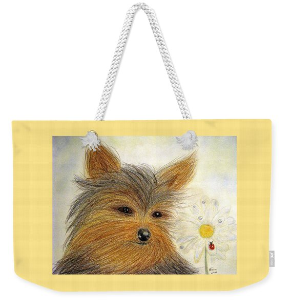 Yorkie Summer Fun Weekender Tote Bag