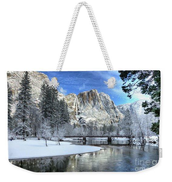 Yosemite Falls Swinging Bridge Yosemite National Park Weekender Tote Bag