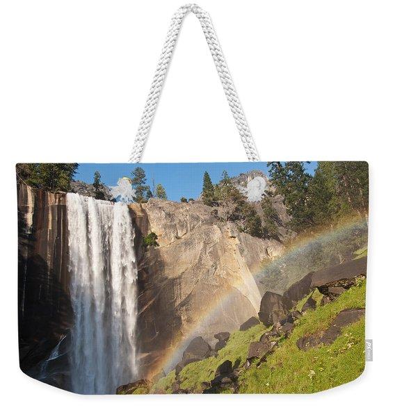 Yosemite Mist Trail Rainbow Weekender Tote Bag