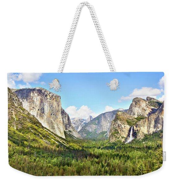 Yosemite Tunnel View Afternoon Weekender Tote Bag