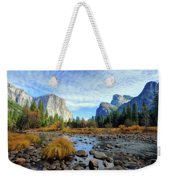 Yosemite Valley View Weekender Tote Bag