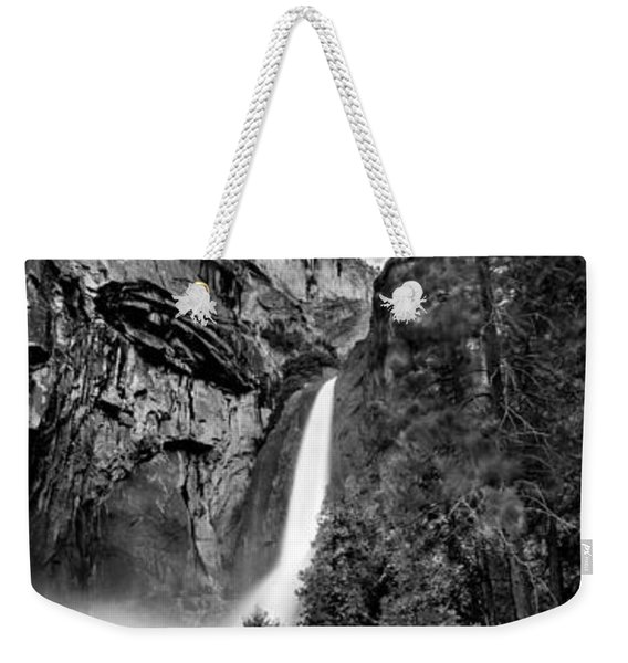 Yosemite Waterfall Bw Weekender Tote Bag