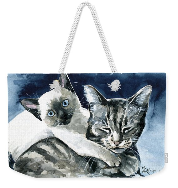 You Are Mine - Cat Painting Weekender Tote Bag