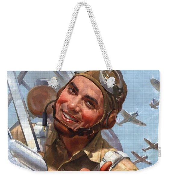 You Buy 'em We'll Fly 'em Weekender Tote Bag