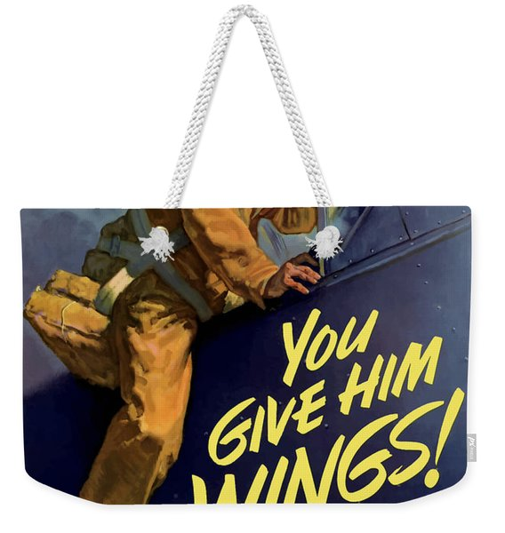 You Give Him Wings - Ww2 Weekender Tote Bag
