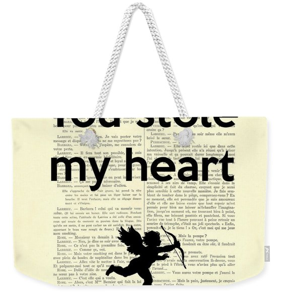 You Stole My Heart, Cupid Weekender Tote Bag