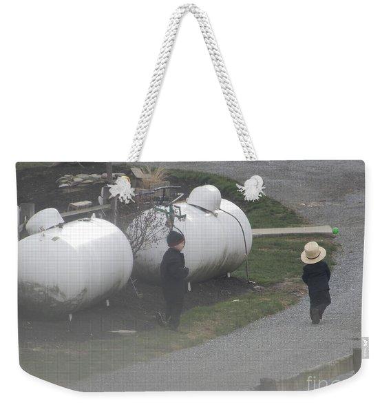 Young Business Men Weekender Tote Bag