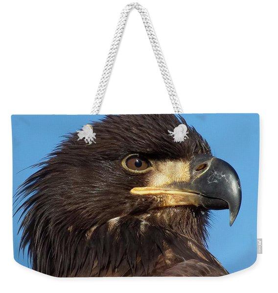 Young Eagle Head Weekender Tote Bag