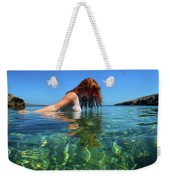 Young Girl And The Sea Weekender Tote Bag