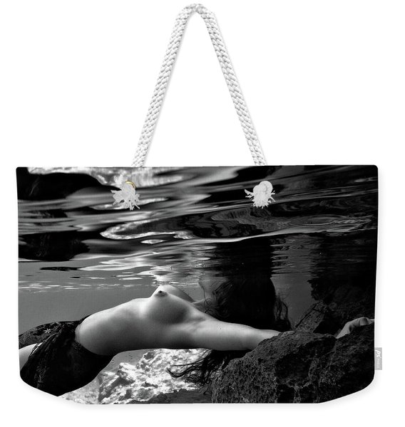 Young Girl Under The Sea Weekender Tote Bag