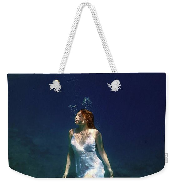 Young Girl With Clothes Under The Sea Weekender Tote Bag
