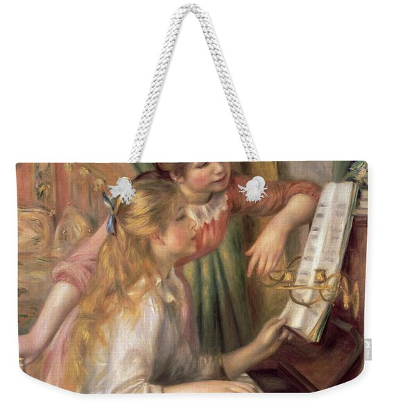 Young Girls At The Piano Weekender Tote Bag