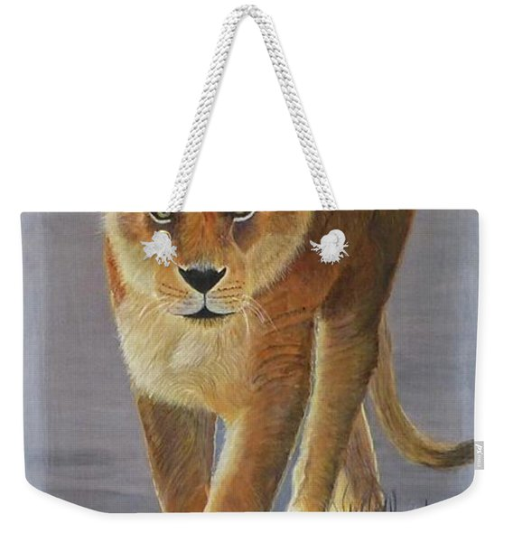 Young Male Lion Weekender Tote Bag