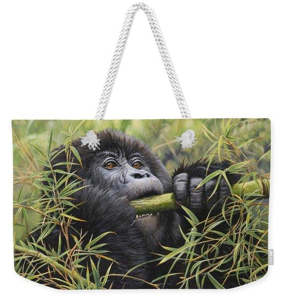Young Mountain Gorilla Weekender Tote Bag