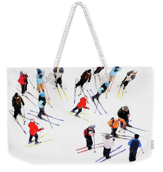 Young Skiers Weekender Tote Bag