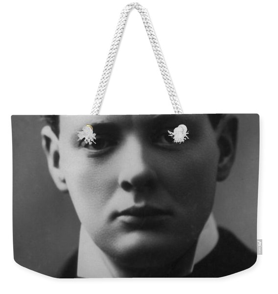 Young Winston Churchill Weekender Tote Bag