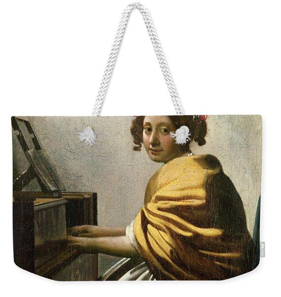 Young Woman At A Virginal Weekender Tote Bag