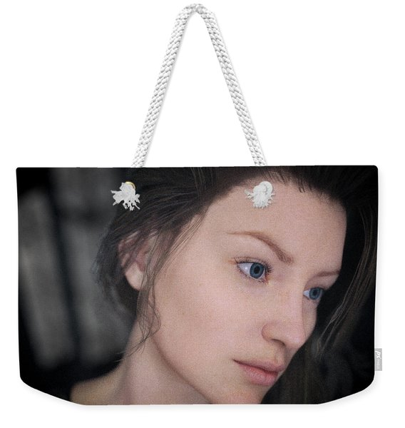 Young Woman Close-up Weekender Tote Bag