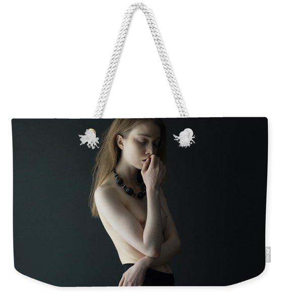 Young Woman In Pantyhose Weekender Tote Bag