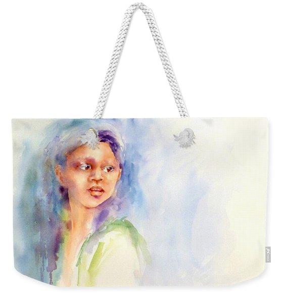 Young Woman Weekender Tote Bag