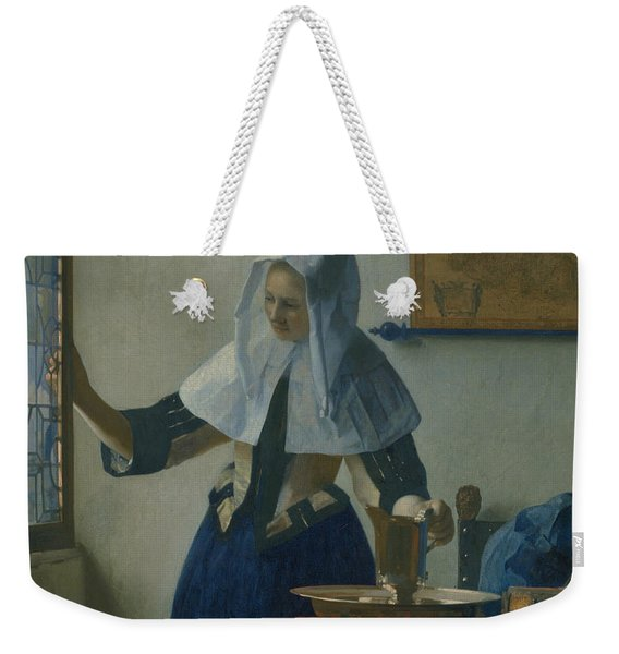 Young Woman With A Water Pitcher  Weekender Tote Bag
