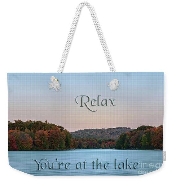 You're At The Lake Weekender Tote Bag